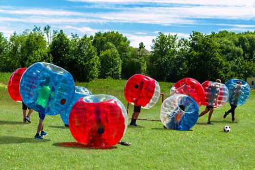 team building milano bubble soccer